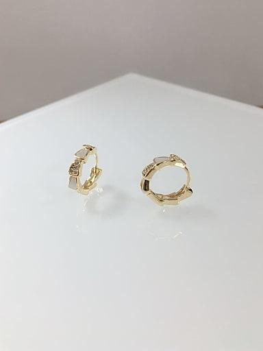 Brass Shell Irregular Dainty Huggie Earring