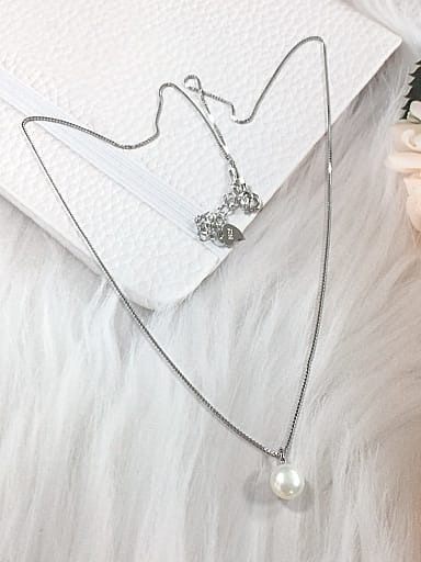 925 Sterling Silver Freshwater Pearl Dainty Locket Necklace