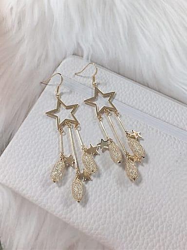 Zinc Alloy Cubic Zirconia Star Trend Hook Earring