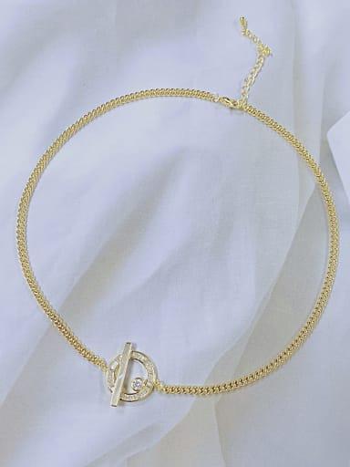 Brass Cubic Zirconia Trend Necklace
