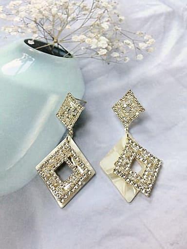 Zinc Alloy Cubic Zirconia Acrylic Irregular Trend Drop Earring