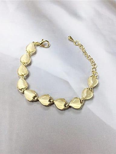 Zinc Alloy Cats Eye Irregular Trend Bracelet