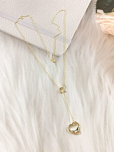 925 Sterling Silver Heart Dainty Initials Necklace