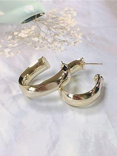 Brass Irregular Trend Hoop Earring