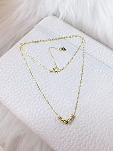 925 Sterling Silver Dainty Initials Necklace