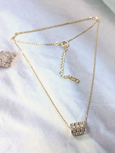 925 Sterling Silver Cubic Zirconia Cone Dainty Initials Necklace