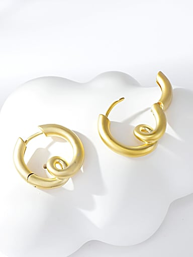 Zinc Alloy Gold Plated Irregular Stud Earring