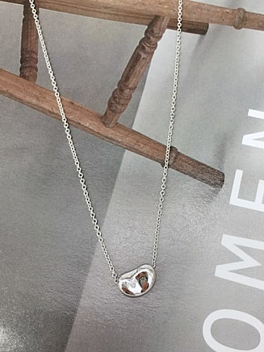 925 Sterling Silver Irregular Dainty Initials Necklace