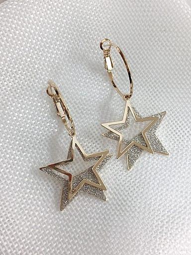 Zinc Alloy Enamel Star Statement Hook Earring