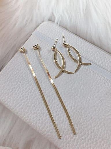 Zinc Alloy Tassel Trend Threader Earring