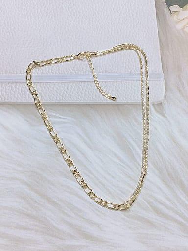 Brass Cubic Zirconia Minimalist Necklace