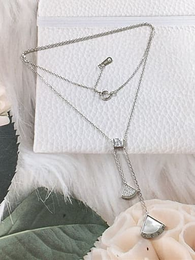 925 Sterling Silver Shell Dainty Initials Necklace