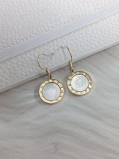 Zinc Alloy Shell Round Trend Hook Earring