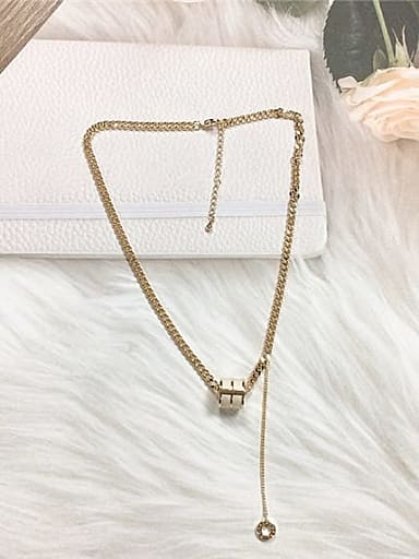 Zinc Alloy Shell Cone Trend Necklace