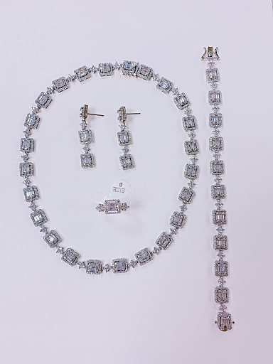Ring Earring Bangle And Necklace Set