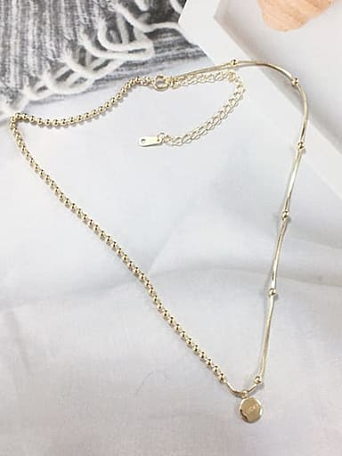 925 Sterling Silver Dainty Beaded Necklace