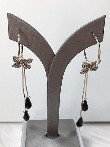 Zinc Alloy Crystal Tassel Trend Threader Earring
