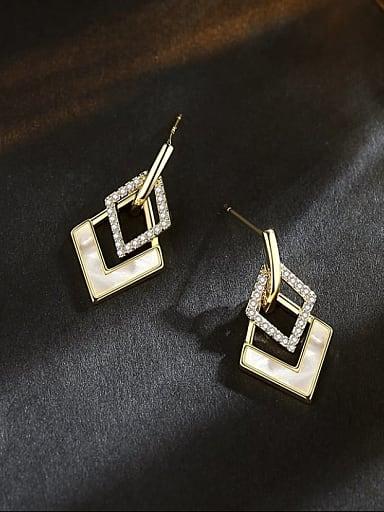 Brass Shell Geometric Trend Drop Earring