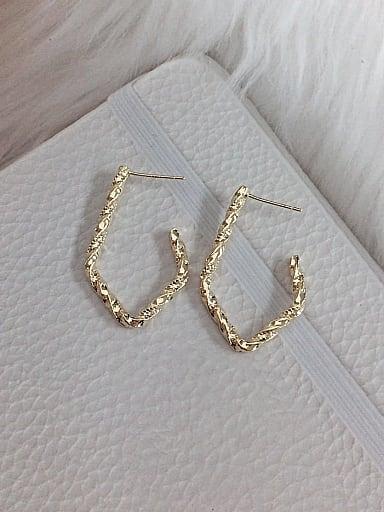 Brass Hook Classic Hook Earring