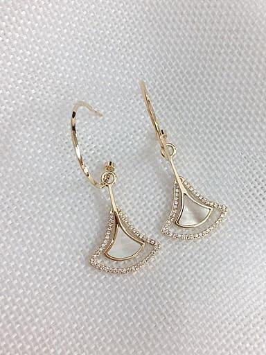 Brass Shell Irregular Trend Hook Earring
