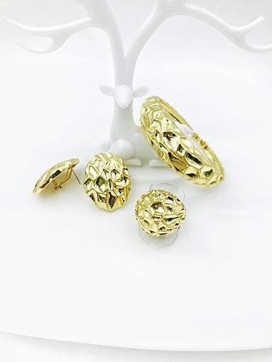 Zinc Alloy Statement Irregular Ring Earring And Bracelet Set