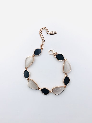 Zinc Alloy Cats Eye White Acrylic Geometric Trend Bracelet