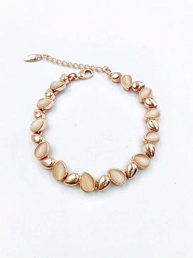 Zinc Alloy Cats Eye White Water Drop Minimalist Bracelet