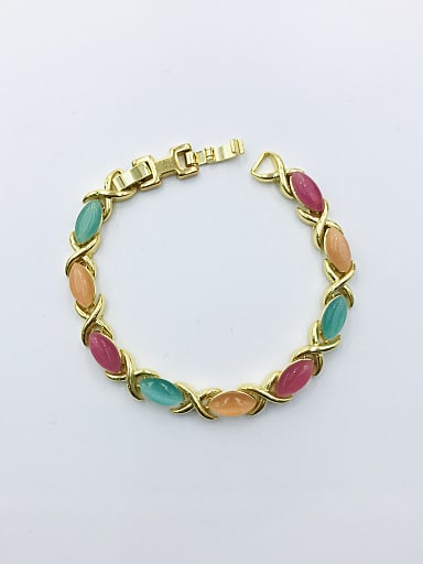 Zinc Alloy Cats Eye Multi Color Geometric Trend Bracelet