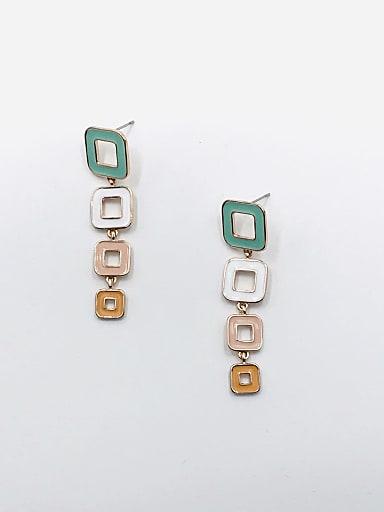 Zinc Alloy Enamel Geometric Minimalist Drop Earring