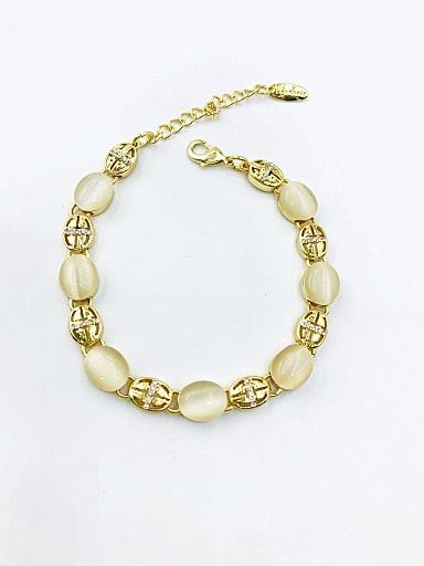 Zinc Alloy Cats Eye White Oval Classic Bracelet
