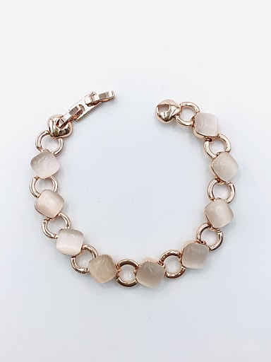 Zinc Alloy Cats Eye White Geometric Minimalist Bracelet