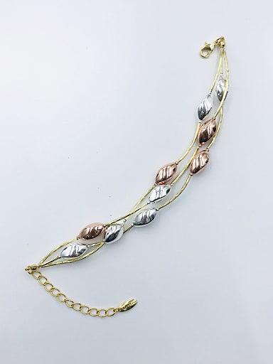 Zinc Alloy Geometric Statement Strand Bracelet