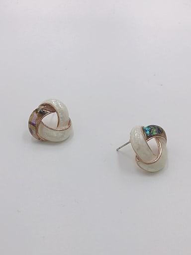 Zinc Alloy Shell Multi Color Geometric Minimalist Stud Earring
