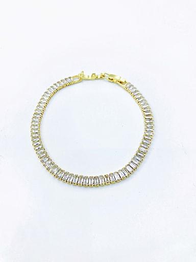 Brass Cubic Zirconia Clear Minimalist Bracelet