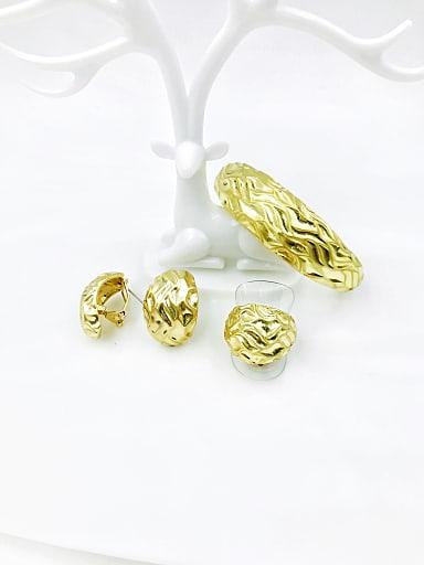 Zinc Alloy Trend Irregular Ring Earring And Bracelet Set