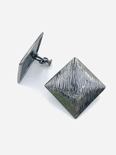 Zinc Alloy Square Minimalist Clip Earring