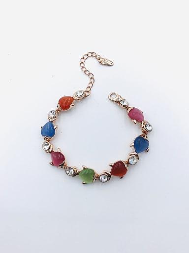 Zinc Alloy Cats Eye Multi Color Fish Trend Bracelet