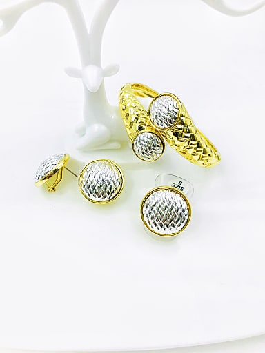 Zinc Alloy Statement Ring Earring And Bracelet Set