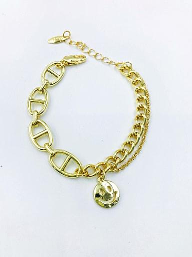 Zinc Alloy Smiley Trend Link Bracelet