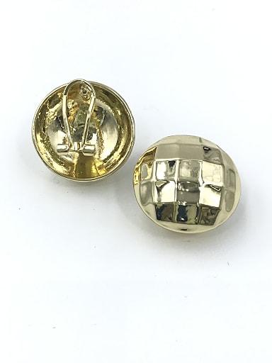Zinc Alloy Round Minimalist Clip Earring