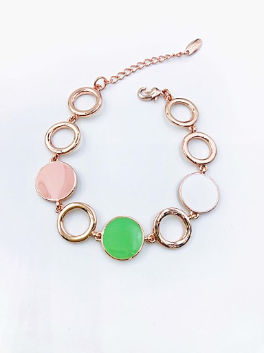 Zinc Alloy Enamel Round Minimalist Bracelet