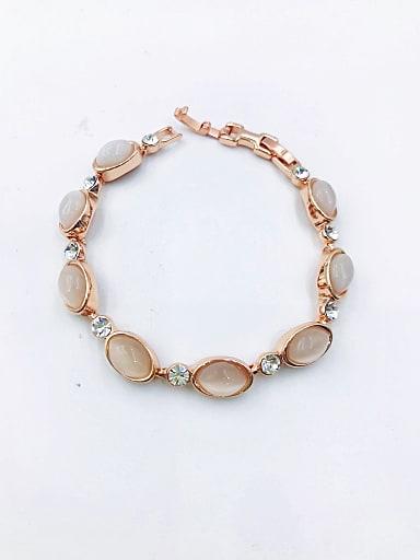 Zinc Alloy Cats Eye White Oval Minimalist Bracelet