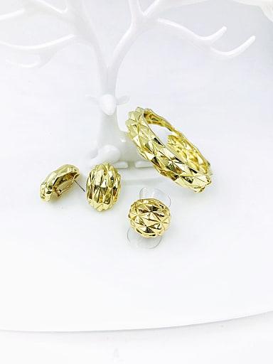 Zinc Alloy Minimalist Ring Earring And Bracelet Set