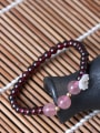 thumb Natural Garnet Shell Flower bracelet 1