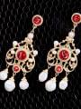 thumb Retro Personality Tassel Drop Chandelier earring 2