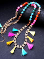thumb Long Colorful Sweater Necklace 3