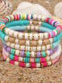thumb Stainless steel Multi Color Polymer Clay Geometric Bohemia Stretch Bracelet 0