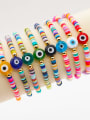 thumb Stainless steel Multi Color Polymer Clay Evil Eye Bohemia Stretch Bracelet 0