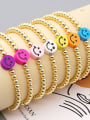 thumb Stainless steel Polymer Clay Smiley Bohemia Beaded Bracelet 0