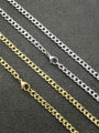 thumb Titanium Steel Geometric Hip Hop Cable Chain 1